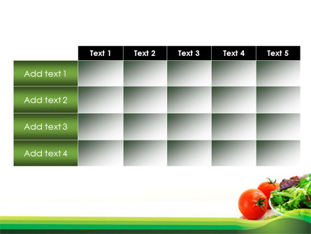 Salad with Tomatoes PowerPoint Template Slide 15