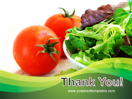 Salad with Tomatoes PowerPoint Template Slide 20