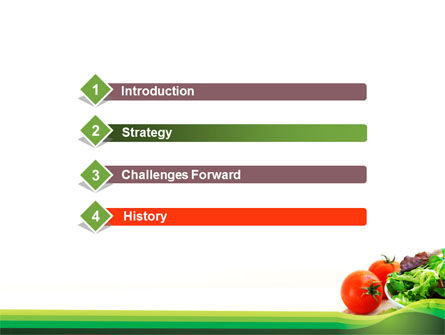Salad with Tomatoes PowerPoint Template Slide 3