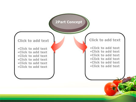 Salad with Tomatoes PowerPoint Template, Slide 4, 09230, Food & Beverage — PoweredTemplate.com