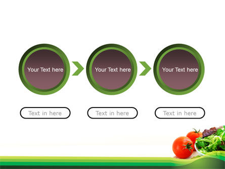 Salad with Tomatoes PowerPoint Template Slide 5