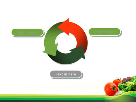 Salad with Tomatoes PowerPoint Template Slide 9