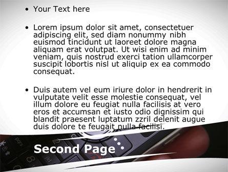 Cellular Phone PowerPoint Template, Slide 2, 09231, Telecommunication — PoweredTemplate.com