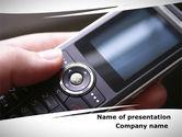 Telecommunication: Cellular Phone PowerPoint Template #09231