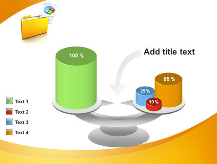 Folder with Diagram PowerPoint Template Slide 10
