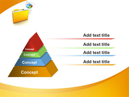 Folder with Diagram PowerPoint Template Slide 12
