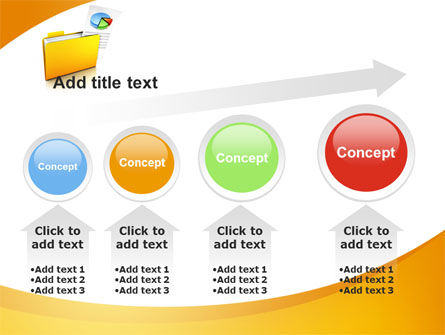 Folder with Diagram PowerPoint Template Slide 13