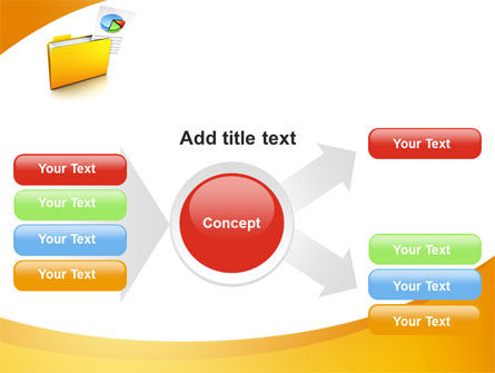 Folder with Diagram PowerPoint Template Slide 14