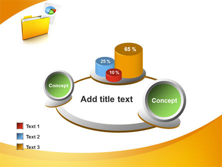 Folder with Diagram PowerPoint Template Slide 16