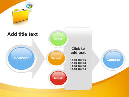 Folder with Diagram PowerPoint Template Slide 17
