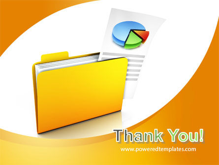 Folder with Diagram PowerPoint Template Slide 20