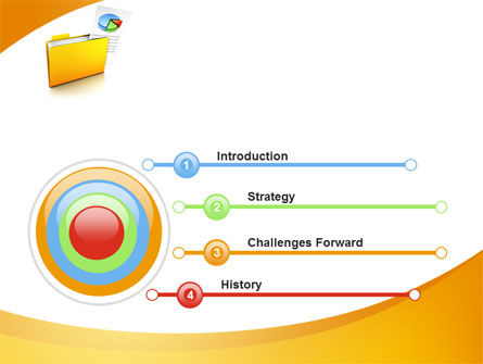 Folder with Diagram PowerPoint Template, Slide 3, 09232, Consulting — PoweredTemplate.com