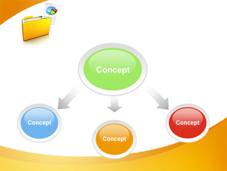 Folder with Diagram PowerPoint Template, Slide 4, 09232, Consulting — PoweredTemplate.com
