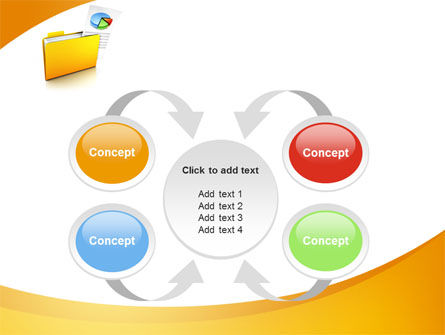 Folder with Diagram PowerPoint Template Slide 6