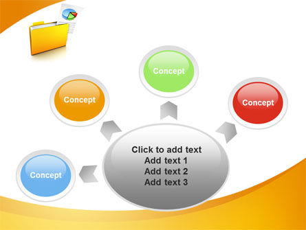 Folder with Diagram PowerPoint Template Slide 7