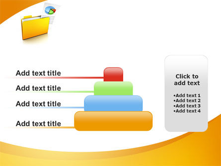 Folder with Diagram PowerPoint Template Slide 8