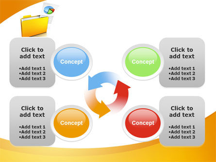 Folder with Diagram PowerPoint Template Slide 9