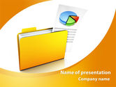 Consulting: Folder with Diagram PowerPoint Template #09232