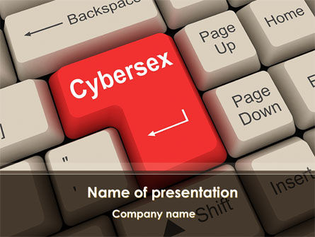 Computers: Cybersex PowerPoint Template #09235