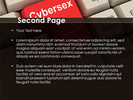 Cybersex PowerPoint Template, Slide 2, 09235, Computers — PoweredTemplate.com
