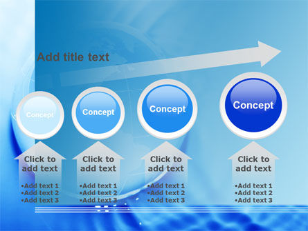 Globe in Blue Colors PowerPoint Template Slide 13