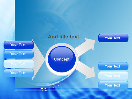 Globe in Blue Colors PowerPoint Template Slide 14