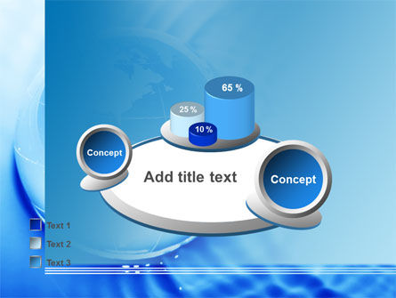 Globe in Blue Colors PowerPoint Template Slide 16