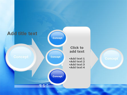 Globe in Blue Colors PowerPoint Template Slide 17