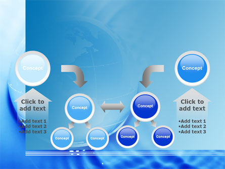 Globe in Blue Colors PowerPoint Template Slide 19