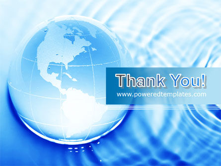 Globe in Blue Colors PowerPoint Template Slide 20