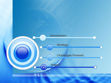 Globe in Blue Colors PowerPoint Template, Slide 3, 09236, Global — PoweredTemplate.com