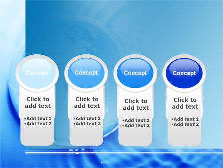 Globe in Blue Colors PowerPoint Template Slide 5