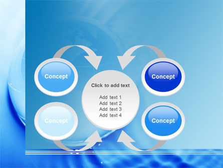 Globe in Blue Colors PowerPoint Template Slide 6