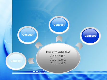Globe in Blue Colors PowerPoint Template Slide 7
