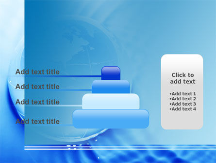 Globe in Blue Colors PowerPoint Template Slide 8
