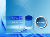 Globe in Blue Colors PowerPoint Template#11