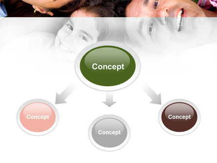 Happy Family On The Green Field PowerPoint Template, Slide 4, 09239, People — PoweredTemplate.com