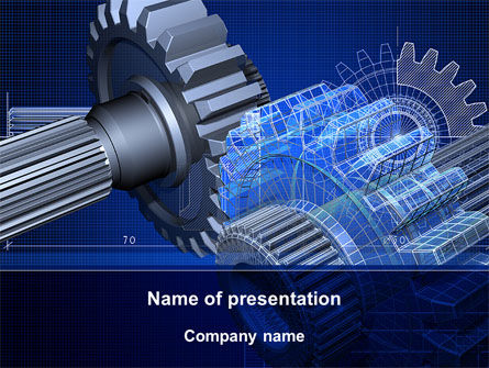 Design of Machines PowerPoint Template, 09240, Utilities/Industrial — PoweredTemplate.com