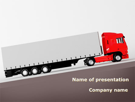 Truck Freight PowerPoint Template, 09241, Cars and Transportation — PoweredTemplate.com