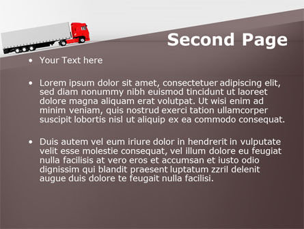 Truck Freight PowerPoint Template, Slide 2, 09241, Cars and Transportation — PoweredTemplate.com