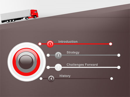Truck Freight PowerPoint Template, Slide 3, 09241, Cars and Transportation — PoweredTemplate.com