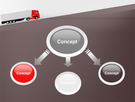 Truck Freight PowerPoint Template, Slide 4, 09241, Cars and Transportation — PoweredTemplate.com