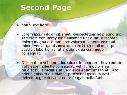 Student Reading a Book PowerPoint Template, Slide 2, 09242, People — PoweredTemplate.com