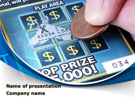 Scratch Card PowerPoint Template, 09244, Careers/Industry — PoweredTemplate.com