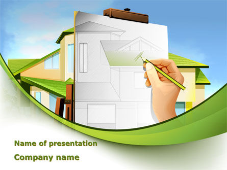 Construction: Cottage bau diagramm PowerPoint Vorlage #09246