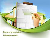 Construction: Modèle PowerPoint de tableau de construction de chalets #09246