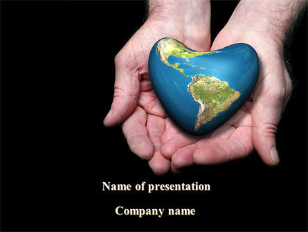 Caring For The Earth PowerPoint Template, 09247, Nature & Environment — PoweredTemplate.com