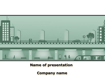 Construction: City Scene PowerPoint Template #09249