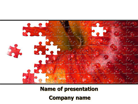 Apple Puzzle PowerPoint Template, 09250, Agriculture — PoweredTemplate.com