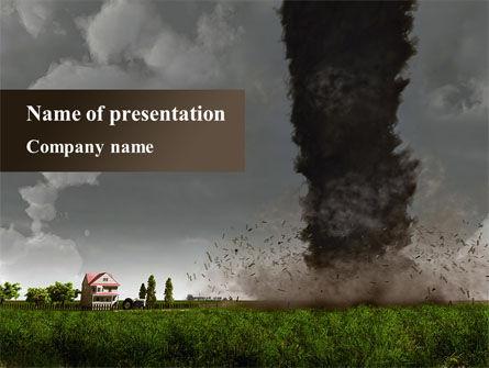 tornado powerpoint template, backgrounds | 09251 | poweredtemplate, Modern powerpoint